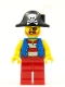 Minifig No: pi180  Name: Pirate Captain - White Plume Feather