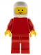 Minifig No: pln181  Name: Plain Red Torso with Red Arms, Red Legs, White Classic Helmet