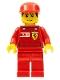 Minifig No: rac031s  Name: F1 Ferrari Record Keeper - with Vodafone Shell Torso Stickers