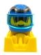 Minifig No: rac087  Name: Off Road Racer - Blue and Yellow