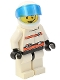 Minifig No: rsq008a  Name: Res-Q 3 - Helmet with Trans-Dark Blue Visor