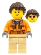 Minifig No: sc041  Name: TV Camera Operator