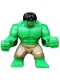 Minifig No: sh013  Name: Big Figure - Hulk with Black Hair and Dark Tan Pants