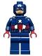 Minifig No: sh014  Name: Captain America - Dark Blue Suit