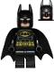 Minifig No: sh016b  Name: Batman - Black Suit with Yellow Belt and Crest (Type 2 Cowl, Spongy Tear-Drop Neck Cut Cape)