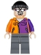 Minifig No: sh022  Name: Two-Face's Henchman, Orange and Purple - Sunglasses