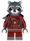 Minifig No: sh090  Name: Rocket Raccoon - Dark Red Outfit