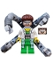 Minifig No: sh110  Name: Dr. Octopus (Otto Octavius) / Doc Ock - White Lab Coat over Bright Green Pants