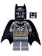 Minifig No: sh162  Name: Batman - Dark Bluish Gray Suit, Gold Belt, Black Hands, Spongy Cape, Scuba Mask Head