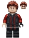Minifig No: sh172  Name: Hawkeye - Black and Dark Red Suit
