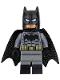 Minifig No: sh218  Name: Batman - Dark Bluish Suit, Gold Belt, Black Hands, Spongy Cape, Large Bat Logo