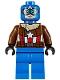 Minifig No: sh374  Name: Pilot Captain America