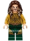Minifig No: sh429  Name: Aquaman - Dark Brown Long Hair