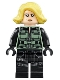 Minifig No: sh494  Name: Black Widow, Blond Hair