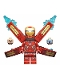 Minifig No: sh497as  Name: Iron Man Mark 50 Armor, Wings with Stickers