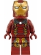 Minifig No: sh498  Name: Iron Man Mark 43 Armor (Trans-Clear Head)