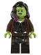 Minifig No: sh506  Name: Gamora, Long Reddish Brown Coat
