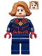 Minifig No: sh555  Name: Captain Marvel - Medium Nougat Hair