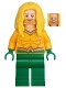 Minifig No: sh557  Name: Aquaman - Yellow Long Hair