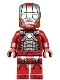 Minifig No: sh566  Name: Iron Man Mark 5 Armor (Trans-Clear Head)