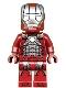 Minifig No: sh566  Name: Iron Man Mark 5 Armor (Trans-Clear Head)