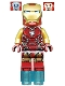 Minifig No: sh573  Name: Iron Man (Pearl Gold Arms)