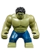 Minifig No: sh577  Name: Big Figure - Hulk with Black Hair and Dark Blue Pants