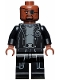 Minifig No: sh585a  Name: Nick Fury - Gray Sweater and Black Trench Coat, Shirt Tail