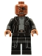 Minifig No: sh585b  Name: Nick Fury - Gray Sweater and Black Trench Coat, No Shirt Tail