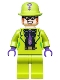 Minifig No: sh593  Name: The Riddler - Black Shirt and Dark Purple Tie