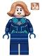 Minifig No: sh605  Name: Captain Marvel 'Vers' (Kree Starforce Uniform)