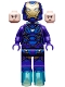 Minifig No: sh610  Name: Rescue (Pepper Potts) - Dark Purple Armor
