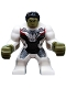 Minifig No: sh611  Name: Hulk with Black Hair and White Jumpsuit