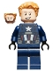 Minifig No: sh625  Name: Captain America - Dark Blue Suit, Black Hands