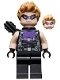 Minifig No: sh626  Name: Hawkeye - Black and Dark Purple Suit, Goggles, Quiver