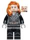Minifig No: sh629  Name: Black Widow - Dark Bluish Gray Hands