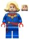 Minifig No: sh639  Name: Captain Marvel - Bright Light Yellow Hair