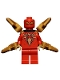 Minifig No: sh640  Name: Iron Spider - Black Outlined Gold Emblem
