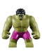 Minifig No: sh643  Name: Big Figure - Hulk with Black Hair and Magenta Pants