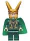 Minifig No: sh644  Name: Loki - Spongy Cape (Juniors), Dark Green Legs