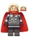 Minifig No: sh645  Name: Thor - Spongy Cape (Juniors), Pearl Dark Gray Legs