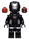 Minifig No: sh646  Name: War Machine - Black and Silver Armor with Neck Bracket