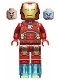 Minifig No: sh649  Name: Iron Man with Silver Hexagon on Chest and 1 x 1 Round Bricks