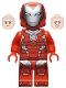 Minifig No: sh665  Name: Rescue (Pepper Potts) - Red Armor