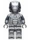Minifig No: sh667  Name: Iron Man Mark 2 Armor (Trans-Clear Head)