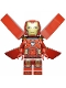Minifig No: sh673  Name: Iron Man with Silver Hexagon on Chest, Wings without Stickers