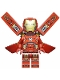 Minifig No: sh673s  Name: Iron Man with Silver Hexagon on Chest, Wings with Stickers