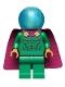 Minifig No: sh681  Name: Mysterio, Light Bluish Gray Head, Satin Trans-Light Blue Helmet, Single Hole Cape