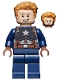 Minifig No: sh729  Name: Captain America - Detailed Suit, Open Mouth, Reddish Brown Hands