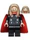 Minifig No: sh734  Name: Thor - Long Dark Tan Hair